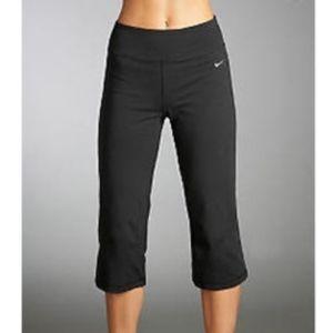 Nike Dri-Fit Stripe Dark Pink Back Capri S